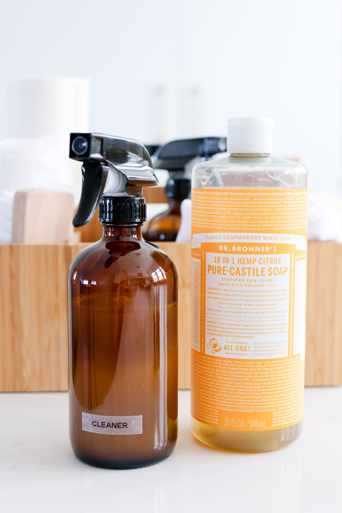 how to make a natural all purpose cleaning spray