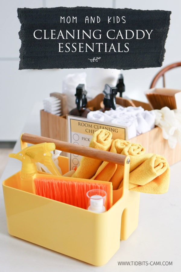 Mom and Kids Cleaning Caddy Essentials