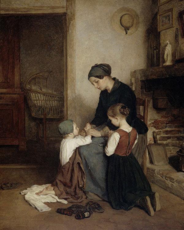 vintage wall art titled Mothers Prayer