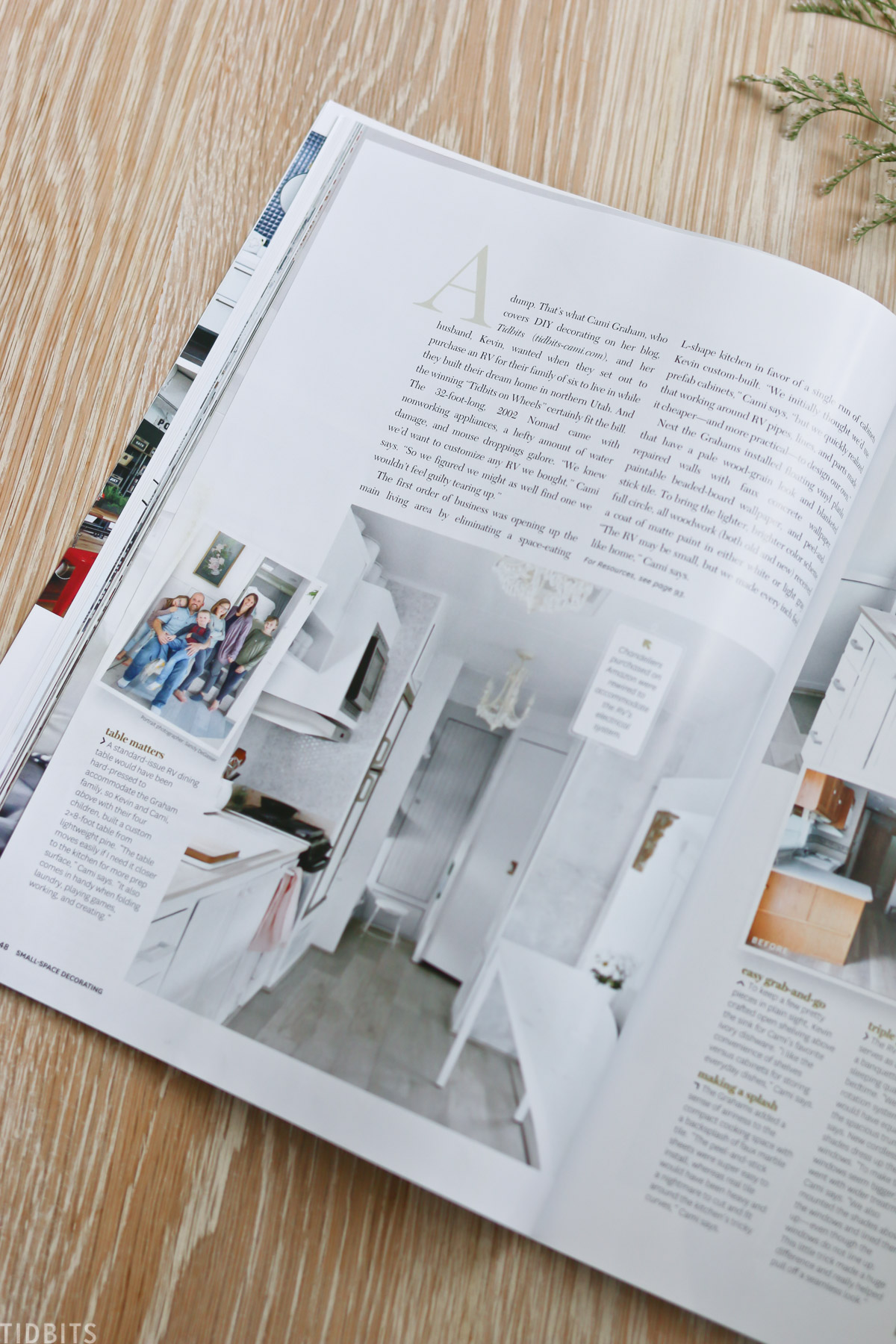 Being featured in Better Homes and Gardens