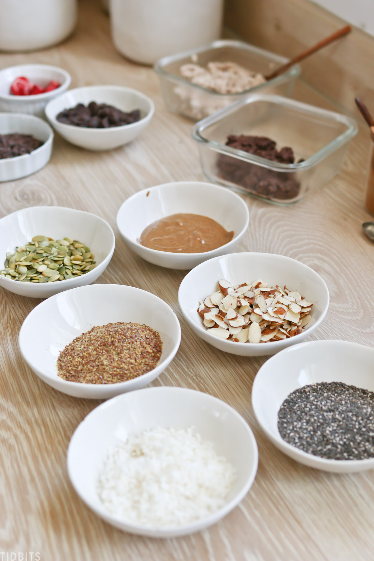 mix in ingredients for homemade granola
