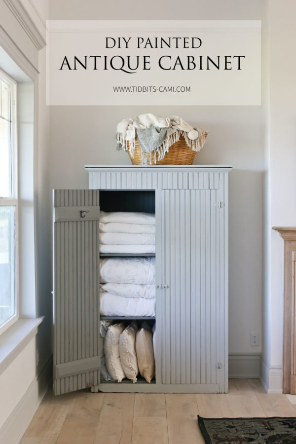DIY Painted Antique Cabinet Makeover