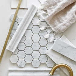 Master Bathroom Design Plans | Marble & Gold Bathroom