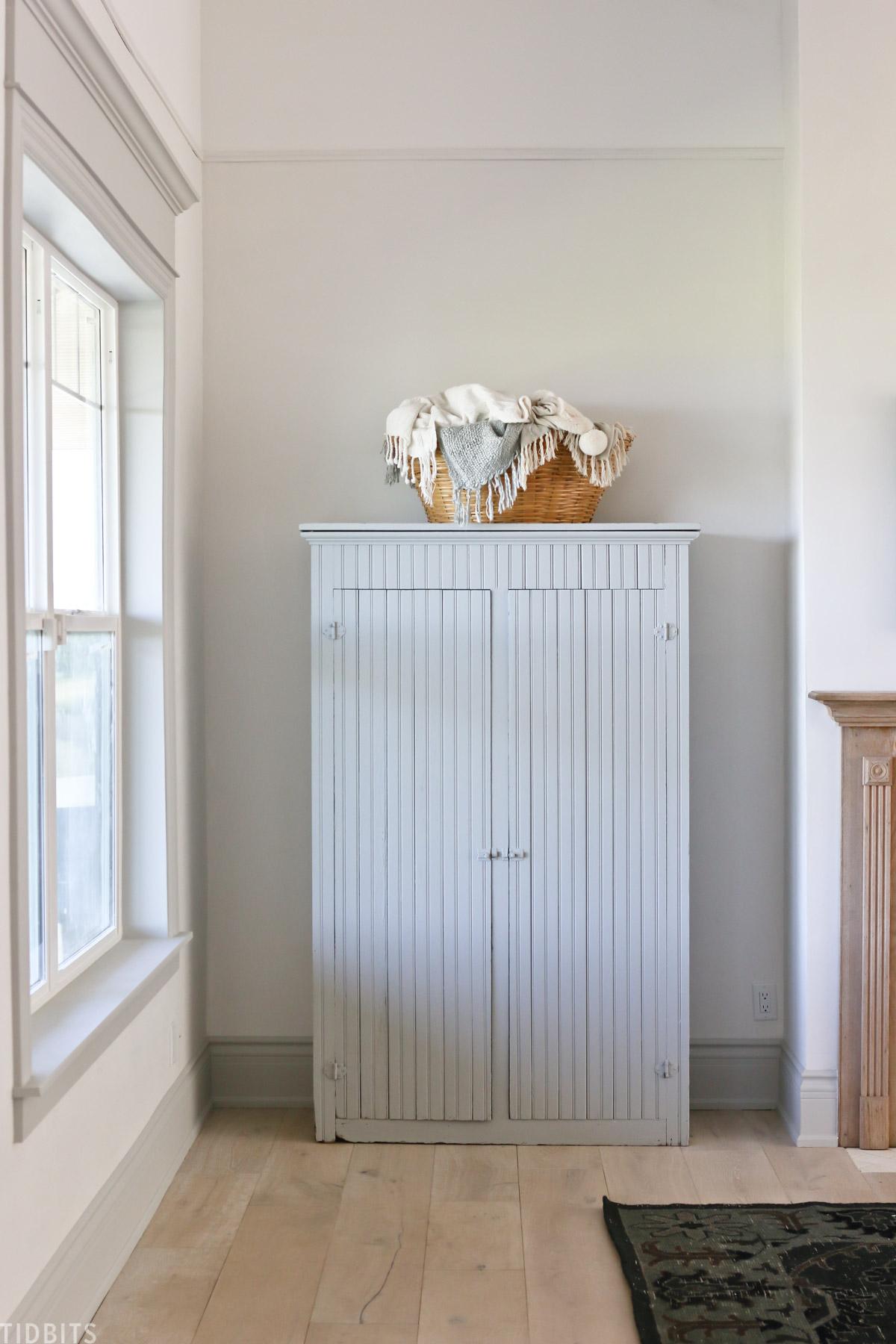 linen storage cabinet