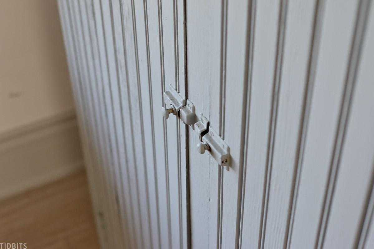 old door handles on cabinet