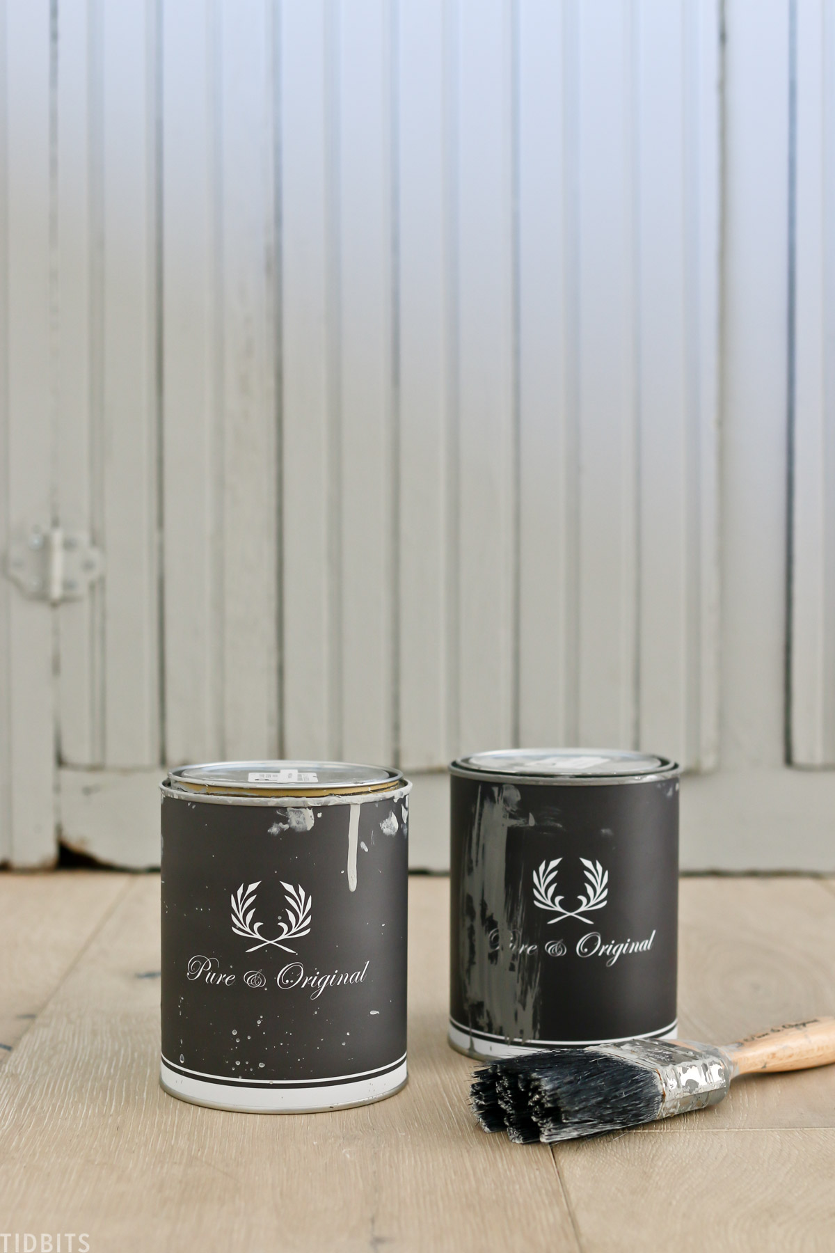 Pure and original paint cans