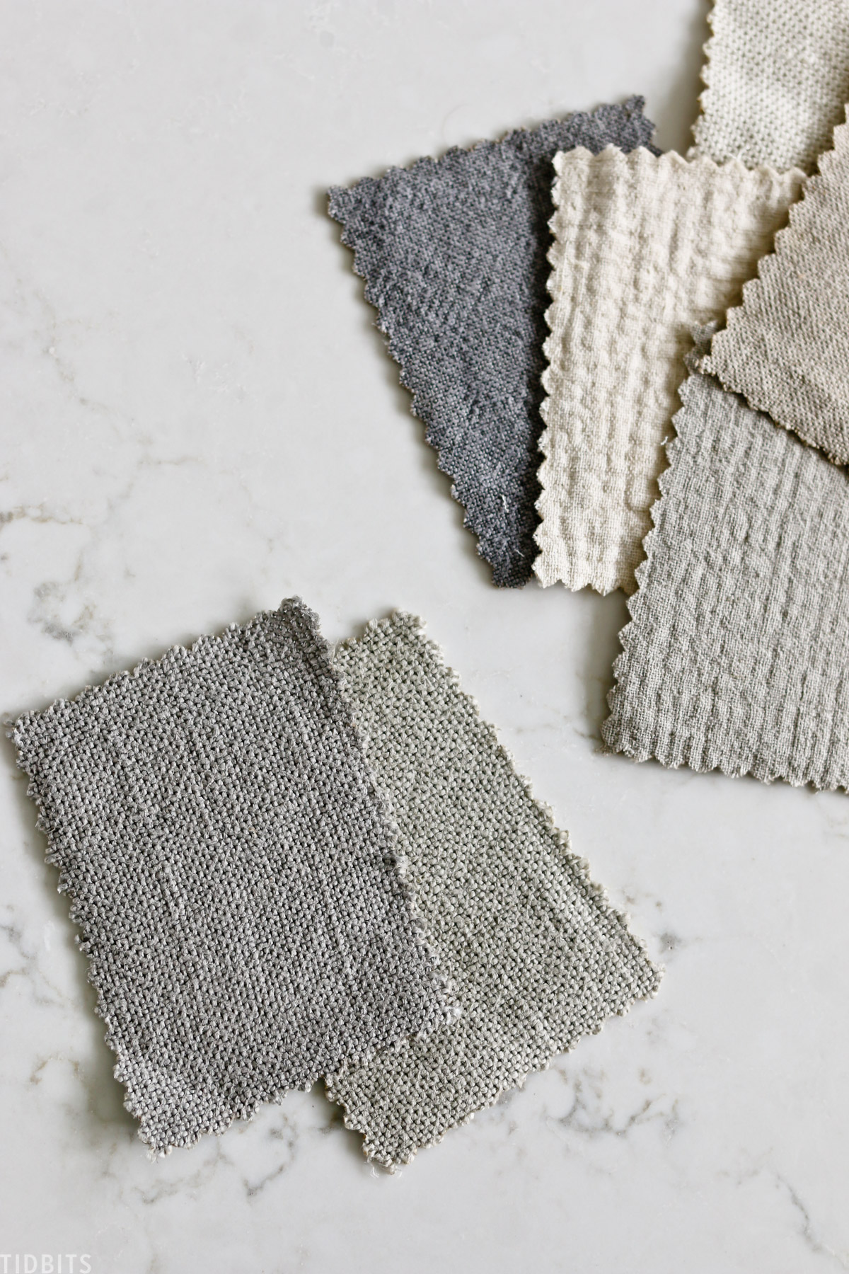 six penny fabric swatches