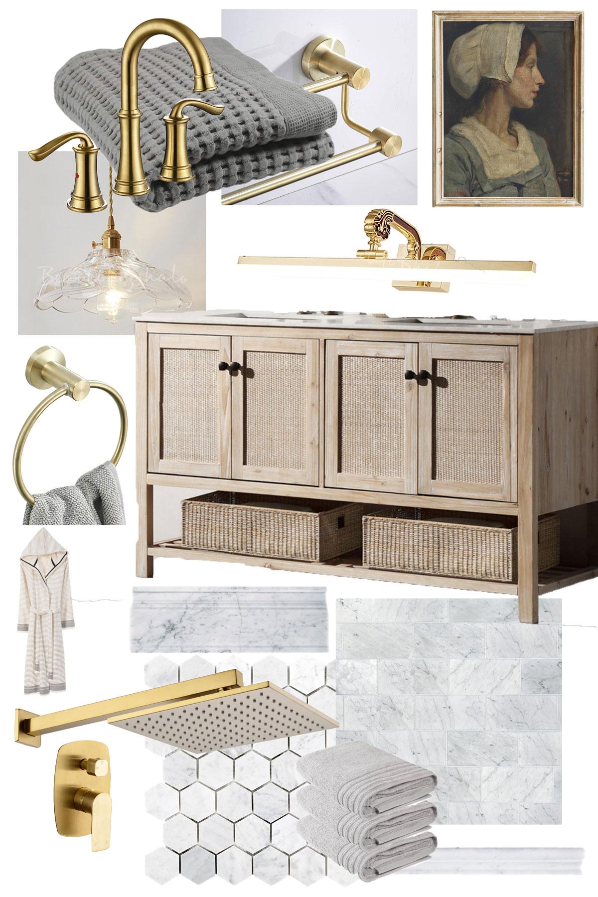 Master Bathroom Design Mood Board