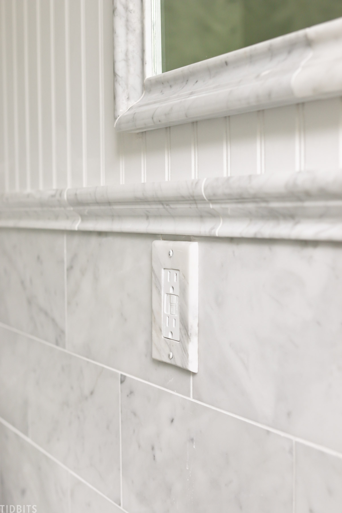 marble trim chair rail