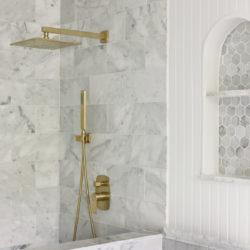 Master Bathroom Progress | Installing Marble Tile and Trim