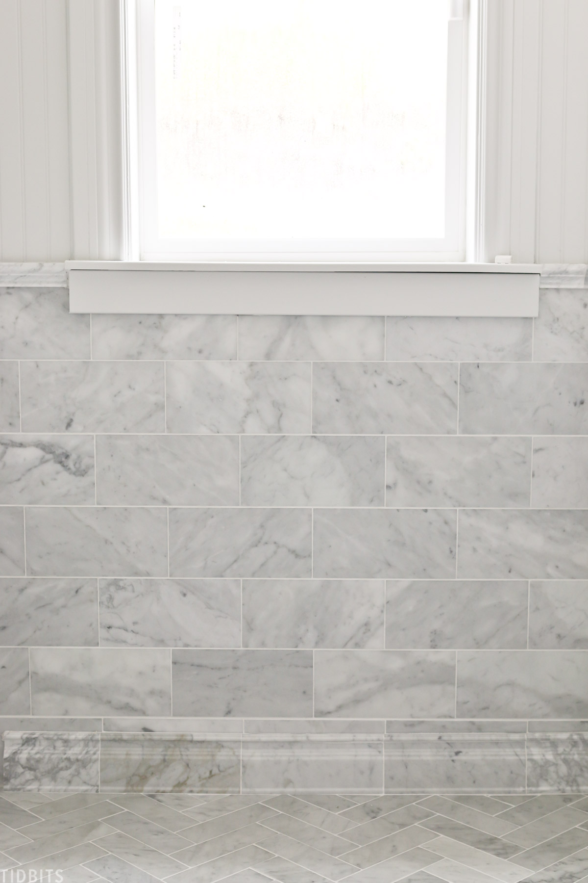 marble trim on walls