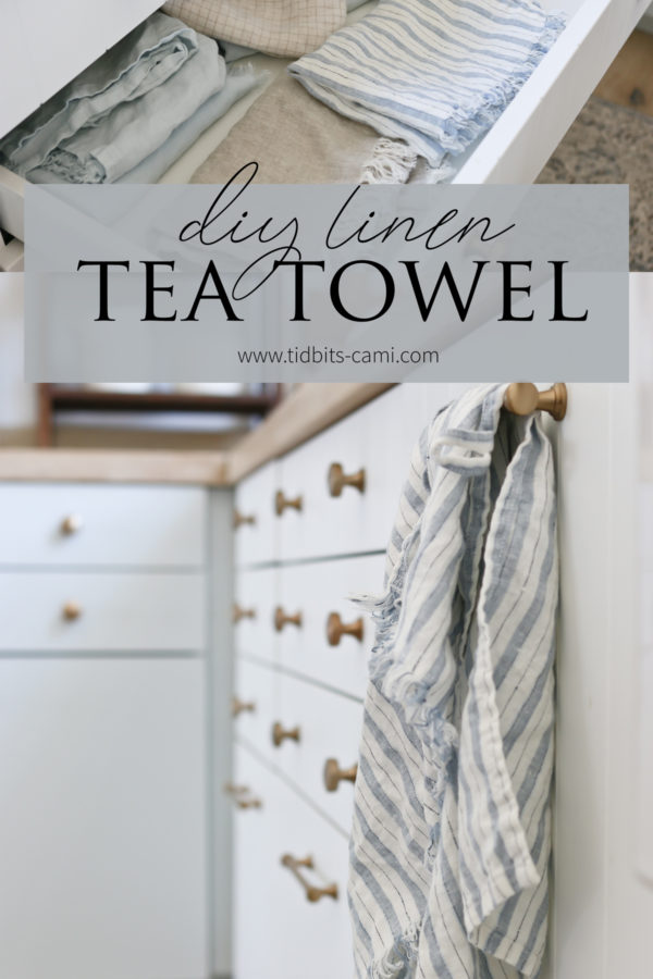 DIY Linen Tea Towels | Upcycle Sewing Project