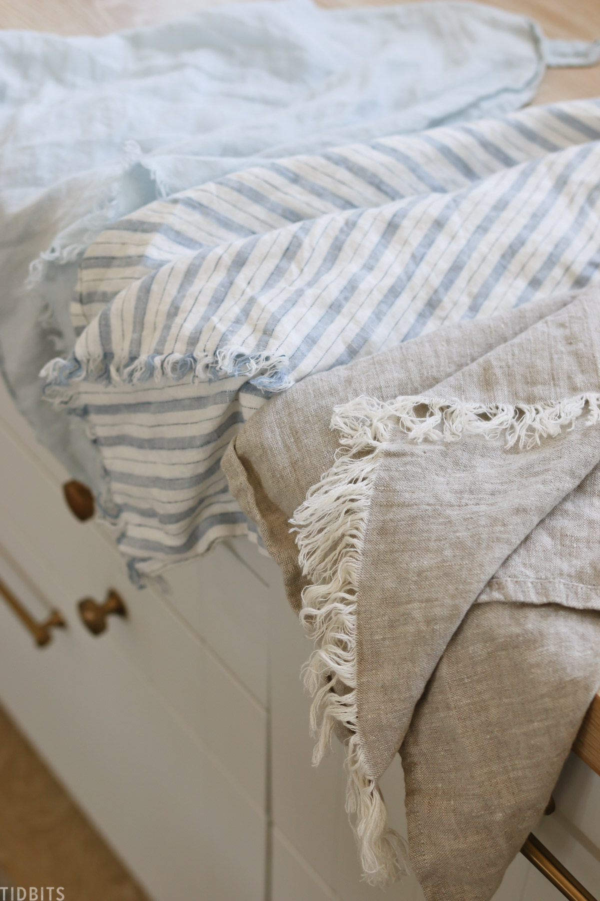 DIY linen tea towel