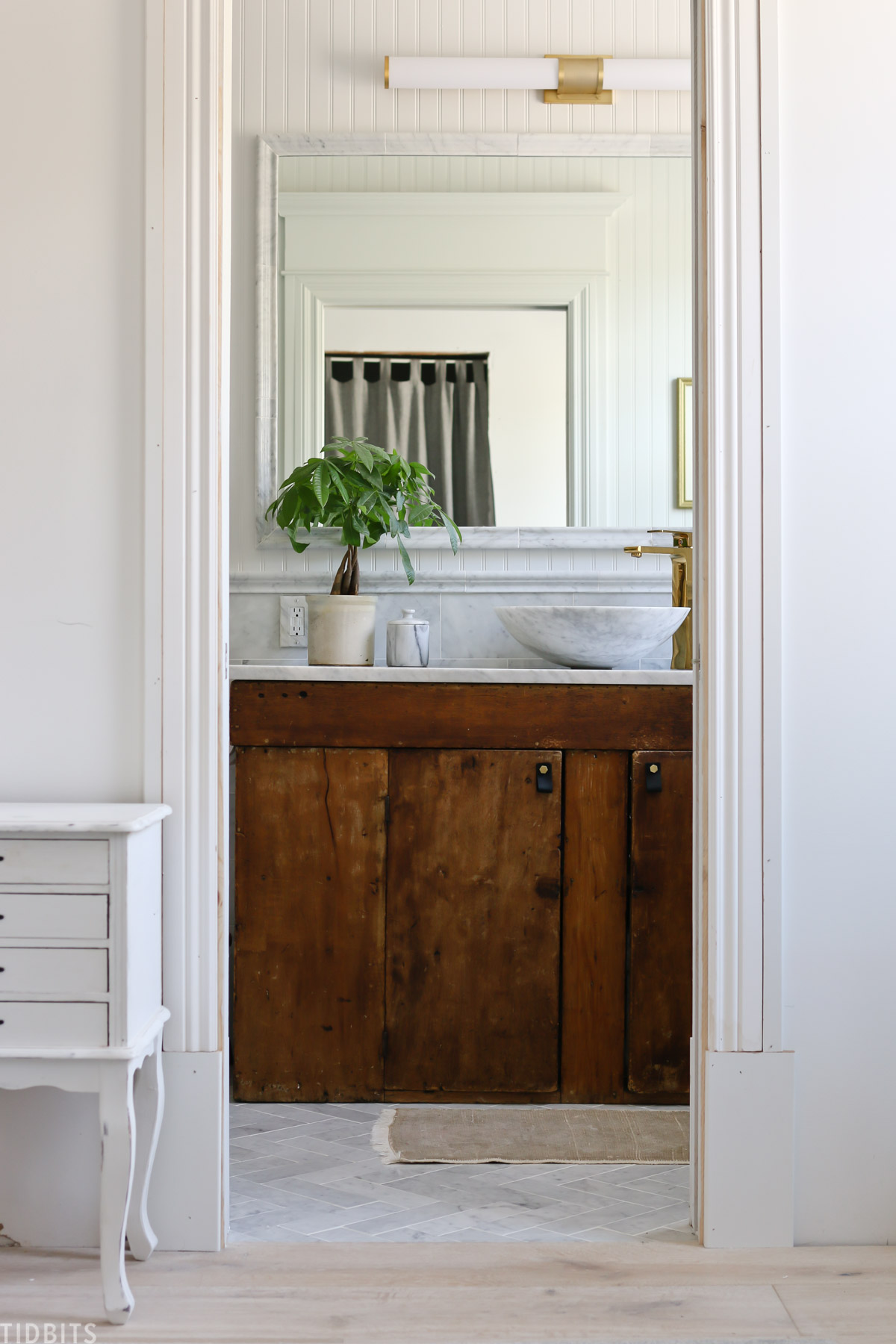 European Farmhouse Master Bathroom