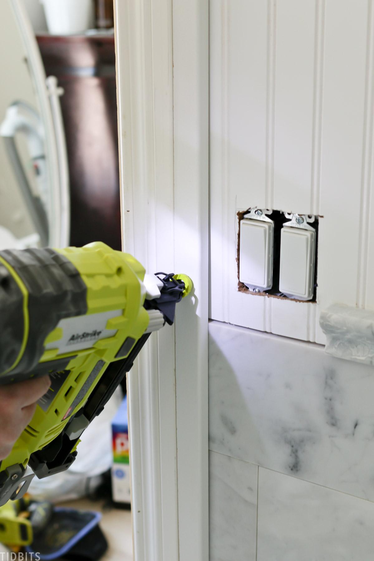 installing door frame