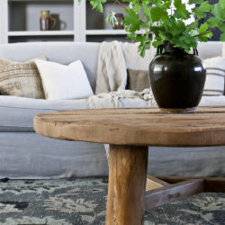 How to Style a Round Coffee Table | 3 Ideas!