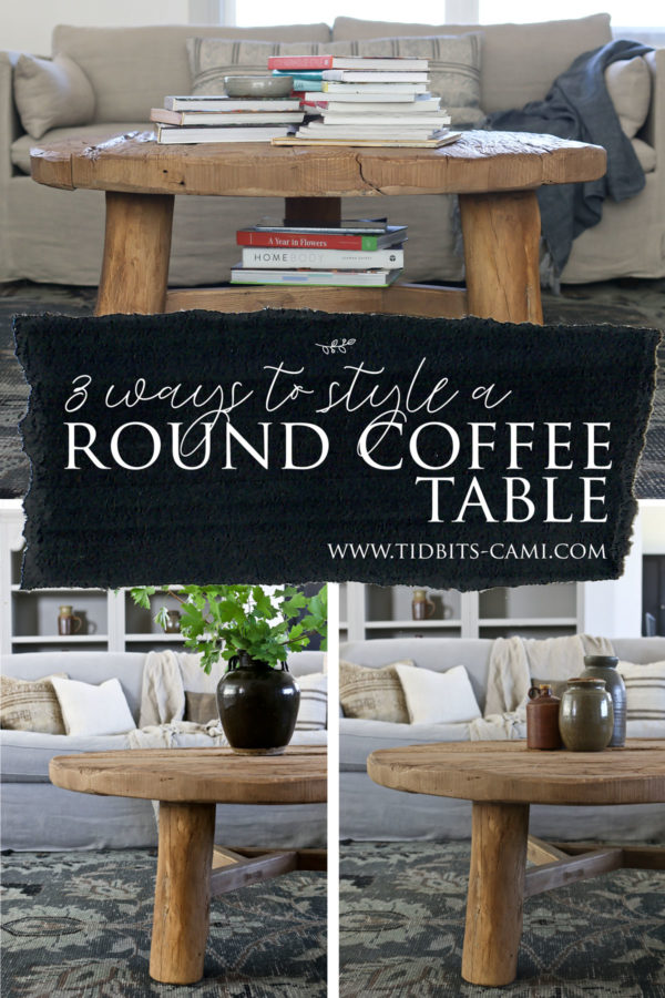 How to style a round coffee table.