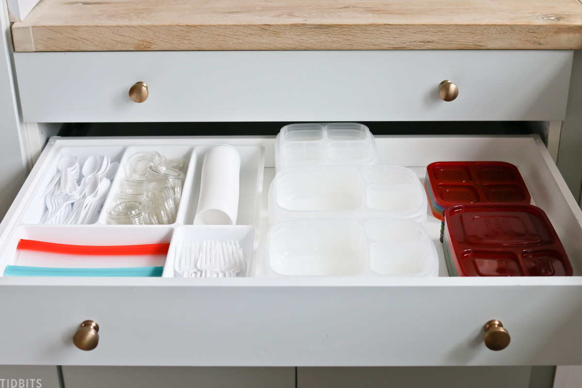 drawer for lunch packing organization