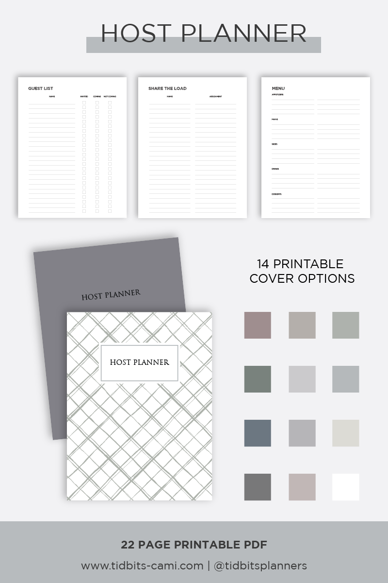 Cover of Host Planner with 14 cover options