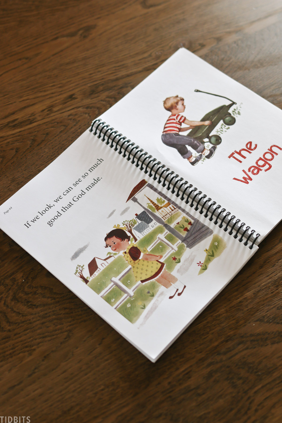 """storybook for homeschooling with story titled """"The Wagon"""""""