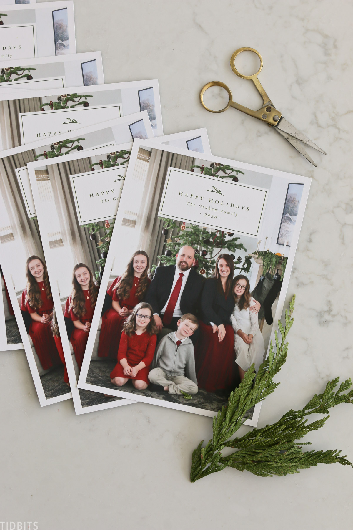 Family christmas cards printed