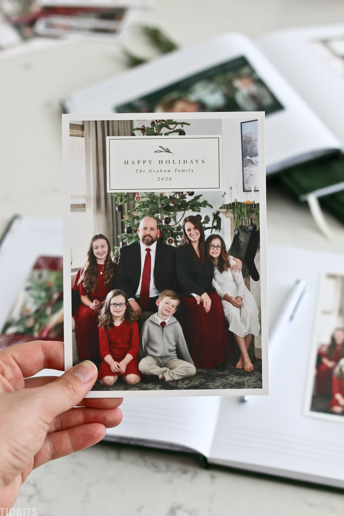 family christmas cards and family pictures during christmas