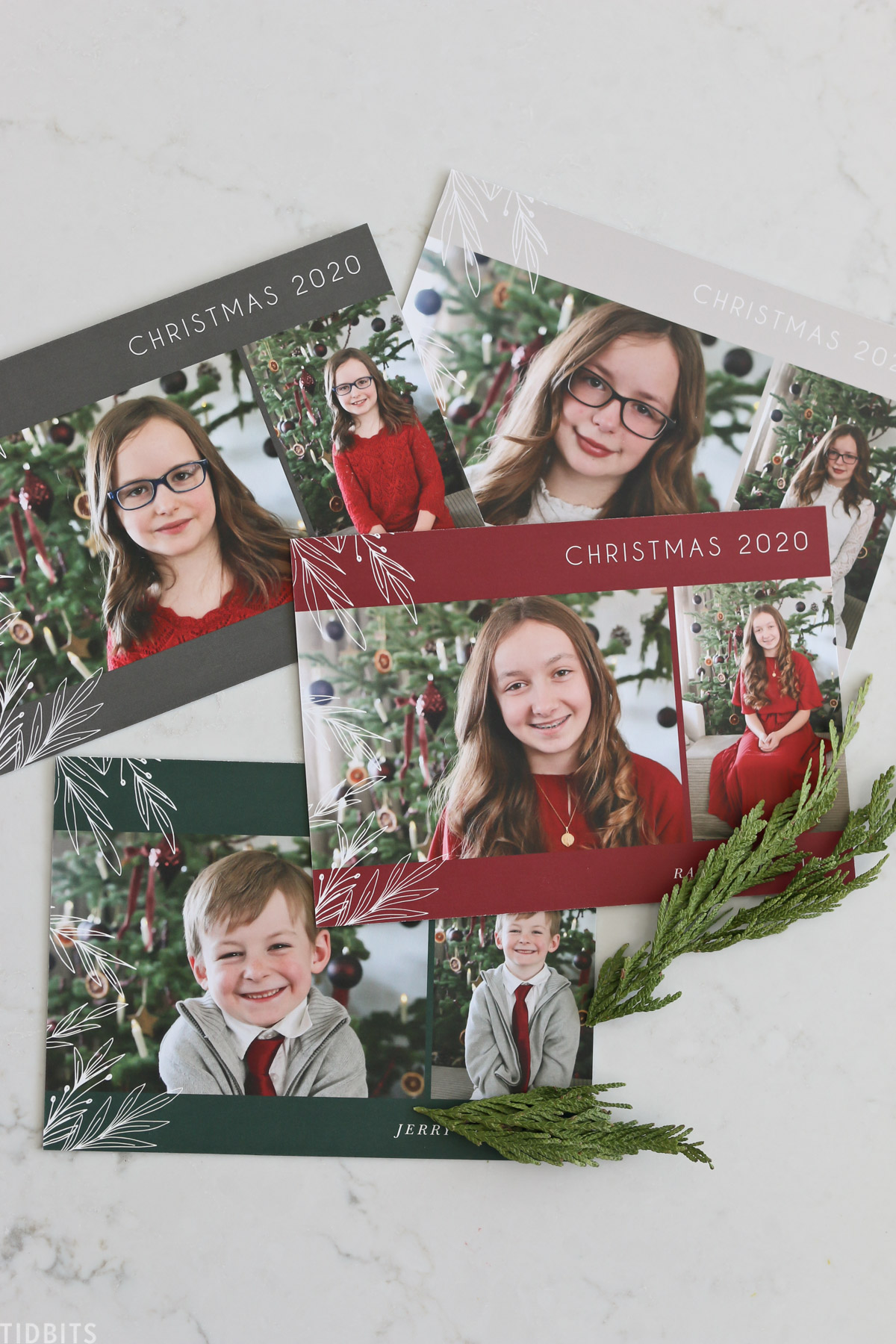 Kids Christmas pictures printed on a nice card