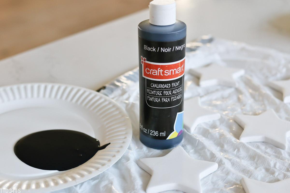 bottle of Craft Smart black chalkboard paint