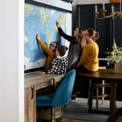 Our Favorite Classroom Pull Down Maps for Homeschooling