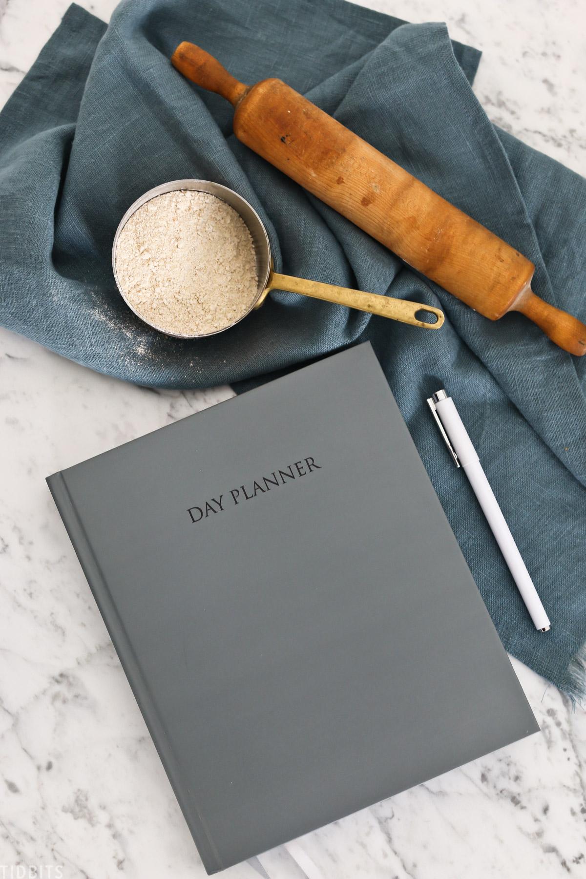 menu planning in your planner