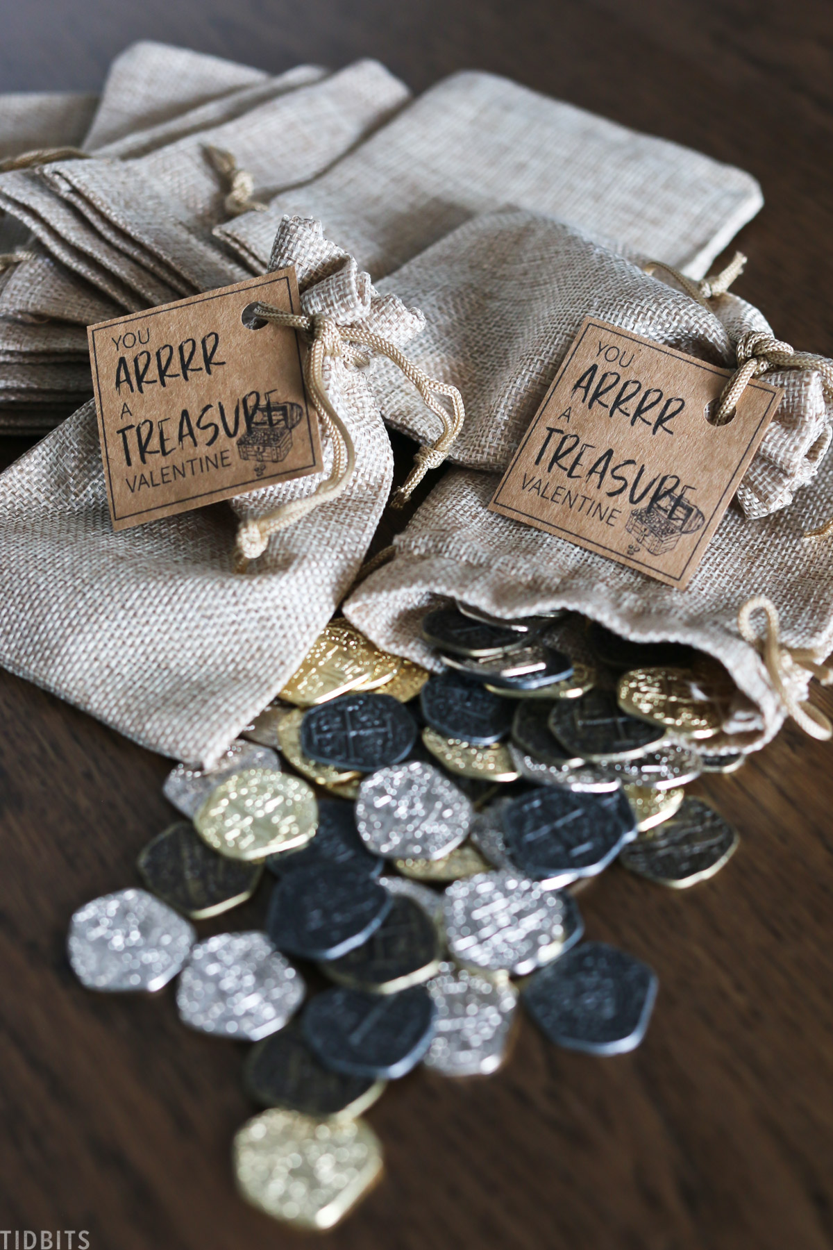pirate treasure valentines idea