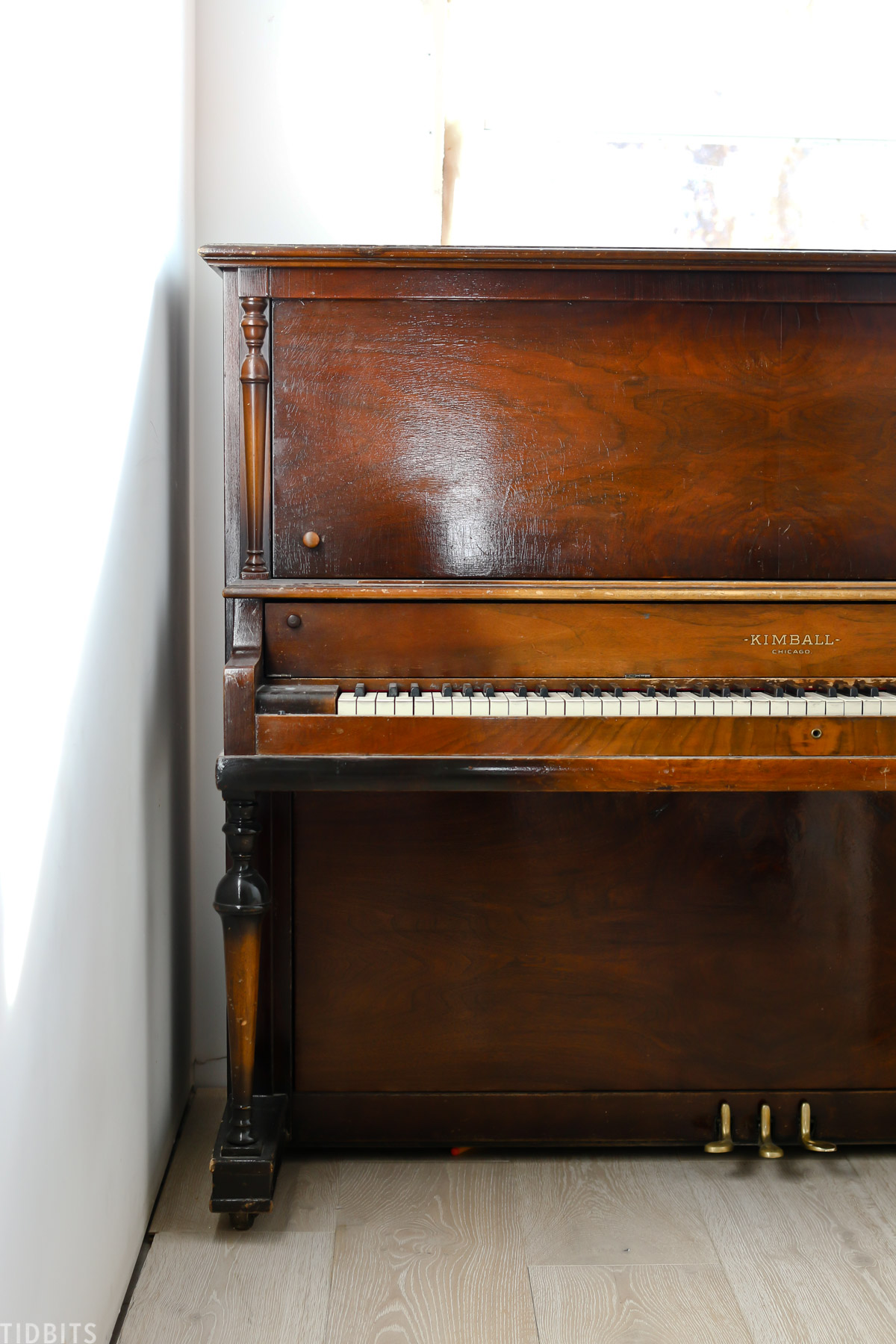 old and rustic piano