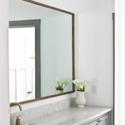 How to Make a DIY Wood Mirror Frame for Bathroom Vanity