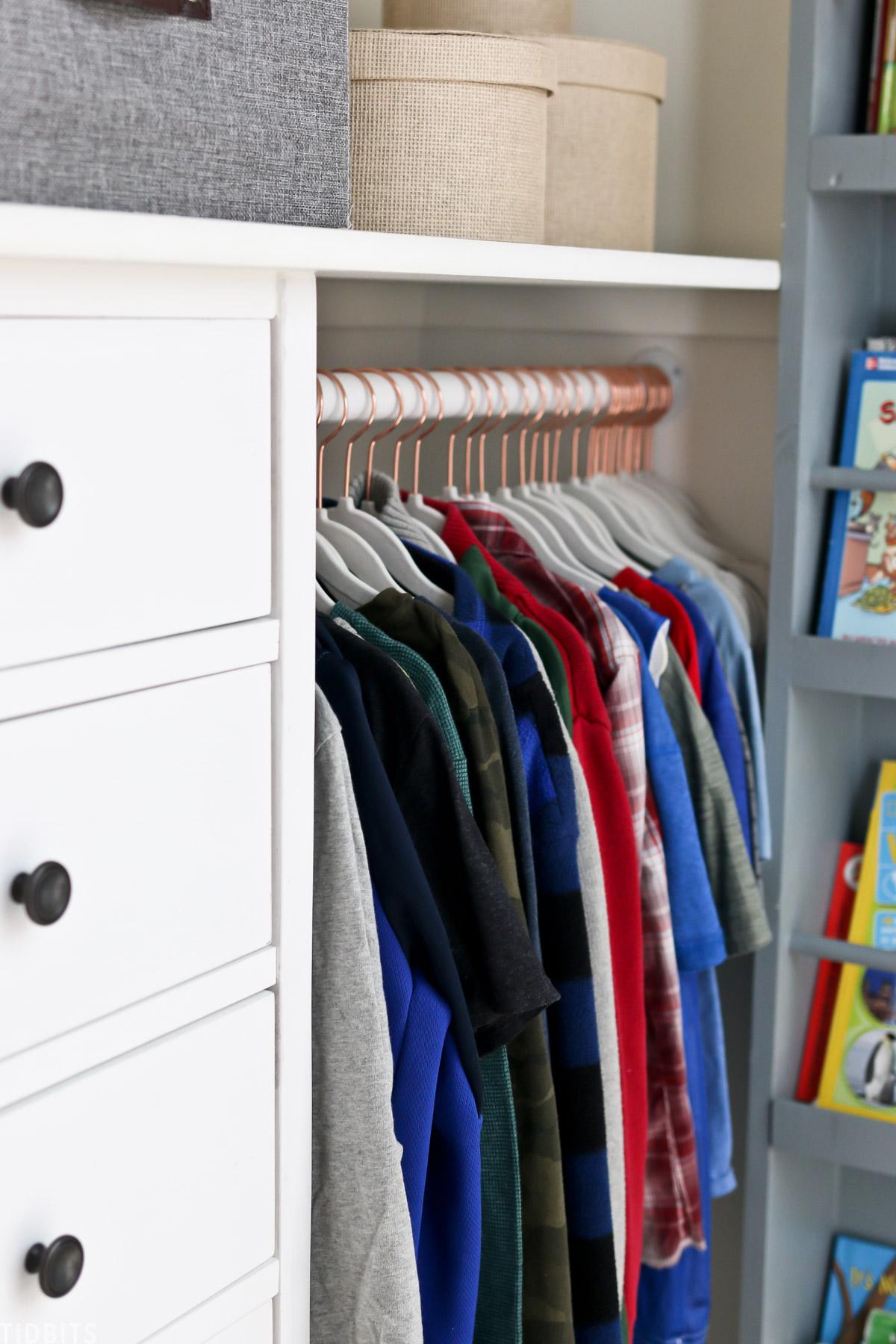 metal closet rod for kids closet