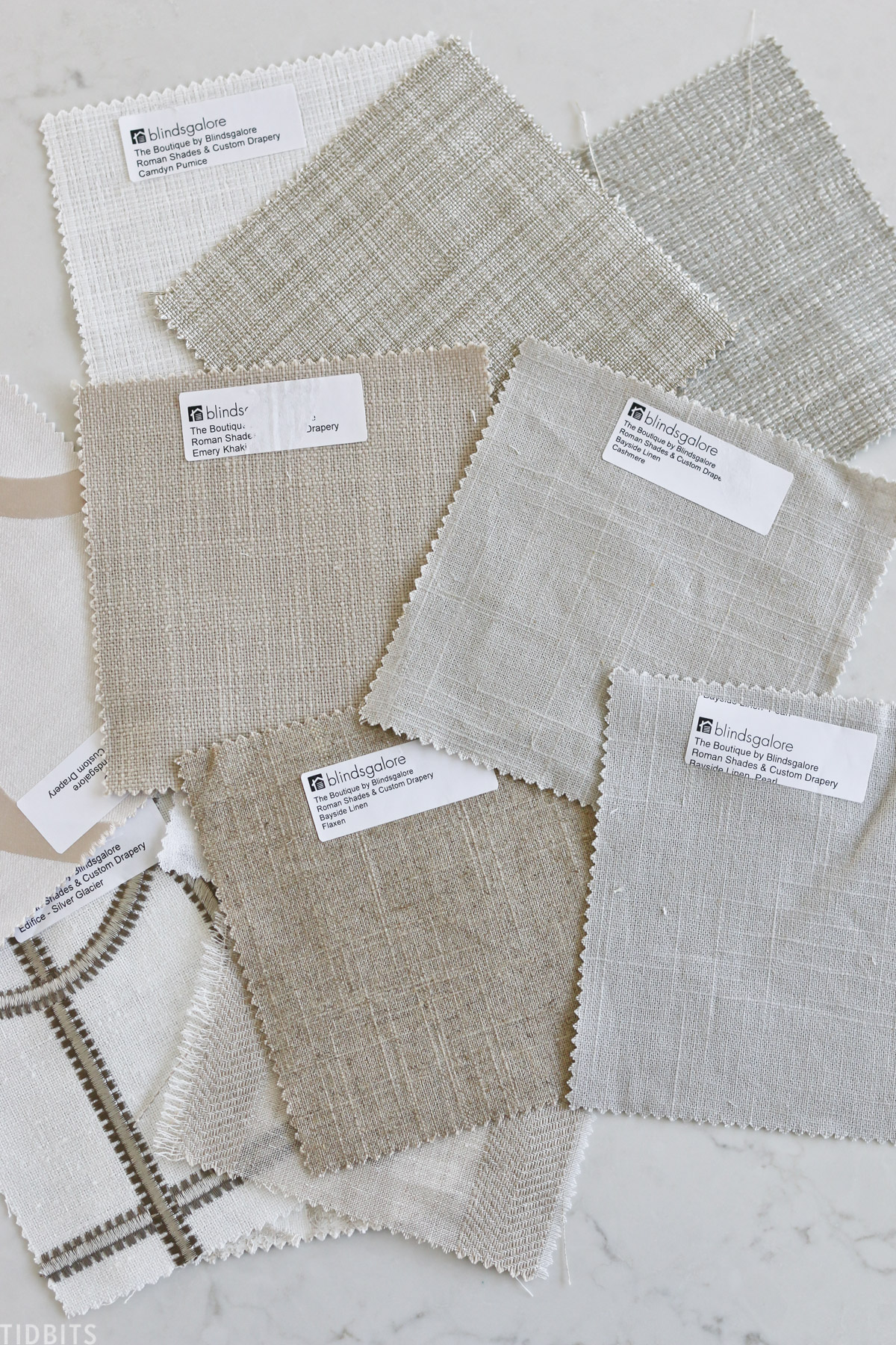 samples of window shades