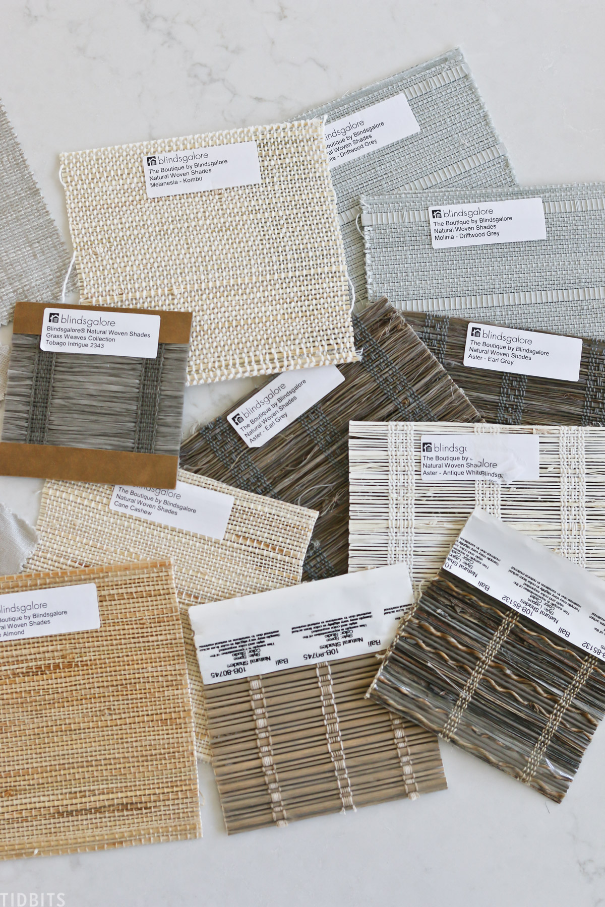 samples of window blinds