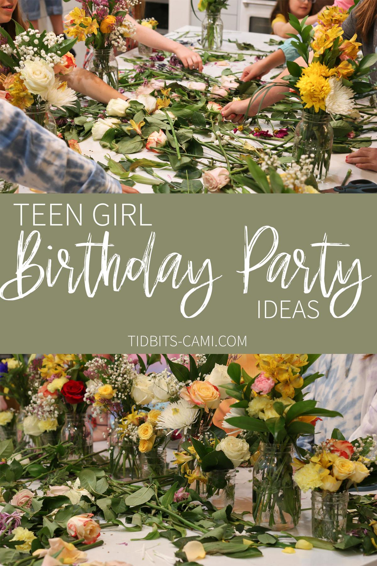 teen girl birthday party ideas