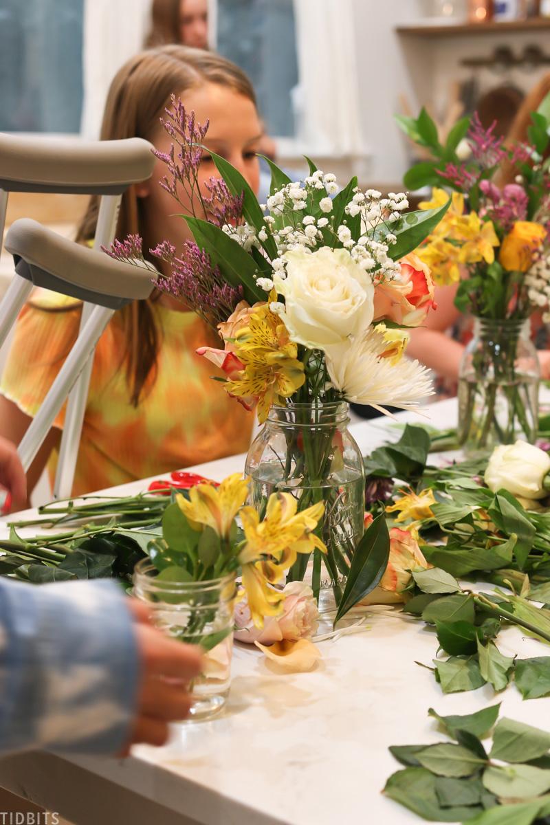flower arranging for kids