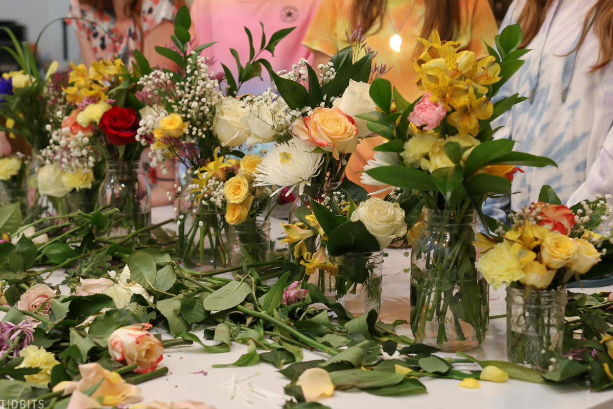 floral arranging tips for kids and teens.